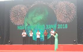 圖為2018年胡志明市綠色生活盛會開幕式一瞥。(圖源:阮瓊)