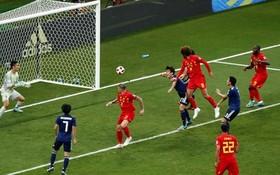 比利時(紅衣)費萊尼頭球破門。(圖源:互聯網)