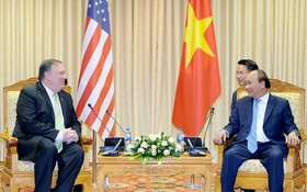 阮春福總理接見美國務卿蓬佩奧。(圖源:光孝)