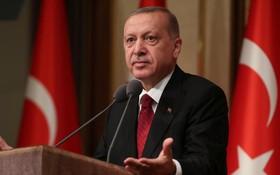 土耳其總統埃爾多安在未遂政變兩週年發表講話。(圖源:路透社)