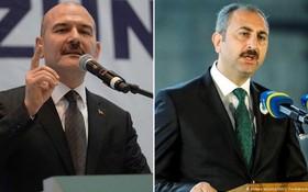 左圖為土耳其內政部長蘇萊曼‧索伊盧;右圖為土耳其司法部長阿卜杜勒哈米德‧古爾。(圖源:互聯網)
