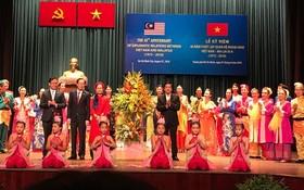 圖為越南與馬來西亞建交45週年(1973-2018)紀念儀式場景一隅。(圖源:明俠)