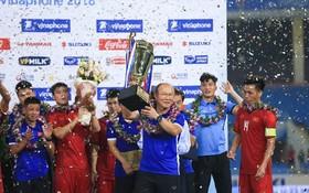 越南U23隊奪得2018年VinaPhone盃國際足球邀請賽冠軍。(圖源:仲達)