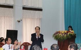 國家主席陳大光出席研討會。(圖源:翠安)