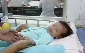 住院治療的1名罕見疾病之病童。
