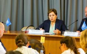 氣候變化曼谷大會閉幕。聯合國氣候變化框架公約執行秘書埃斯皮諾薩舉行了記者會。(圖源:聯合國)
