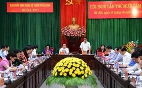 第十六屆河內市黨部執委會昨(1)日舉行第十五次會議以討論4項重要問題。圖為會議現場一瞥。(圖源:國儹)