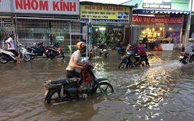 第七郡黃晉發街水淹情況令民眾苦不堪言。