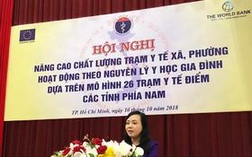 衛生部長阮氏金進在會議上發表講話。(圖源:德真)