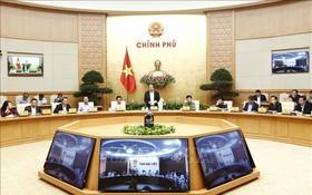 政府常務副總理張和平(中)主持會議並發表講話。(圖源:越通社)