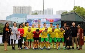 參賽的澳大利亞駐越大使館球隊。