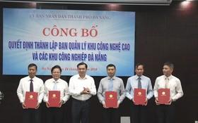 峴港市人委會就該市各工業區與高新技術園區管委會成立《決定》舉辦公佈儀式。