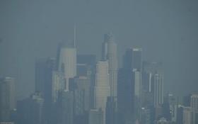 美洛杉磯部分地區被煙霧籠罩。(圖源:新華社)