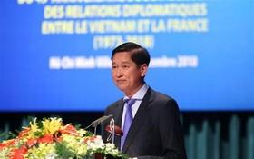 市人委會副主席陳永線在紀念儀式上發言。(圖源:清武/越通社)