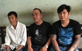 被扣押的放高利貸歹徒阮栢飛功(左)、梁黃英(中)和阮忠信。(圖源:阮新)