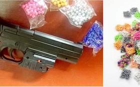 像真槍一樣的塑膠彈槍。