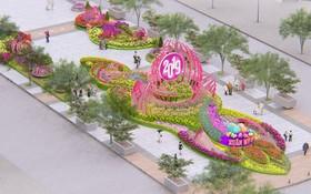 阮惠春花街施工實行交通管制。圖為阮惠春花街配景圖。(圖源:互聯網)