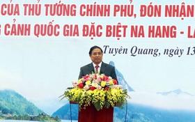 中央組織部長范明政出席儀式並發表講話。(圖源:光旦)