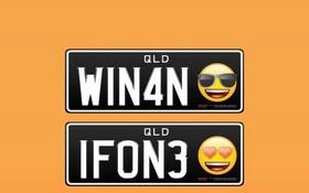 澳昆士蘭州將允許車牌印表情符號。(圖源:互聯網)