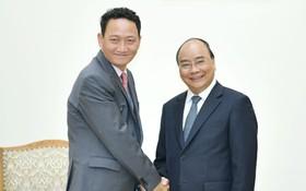 政府總理阮春福接見韓國 駐越大使金度鉉。(圖源:Chinhphu.vn)