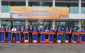 榮市-曼谷航線開張及航空港國際航站樓投入運營儀式。(圖源:BHT)