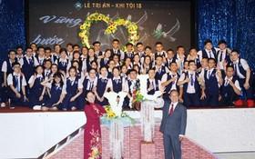 文朗學校舉行的學生感恩活動現場一瞥。。