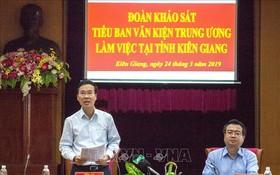 中央宣教部長武文賞同志在會上發表講話。(圖源:越通社)