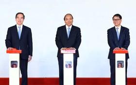 阮春福總理出席朱萊開放經濟區多項目動工儀式。(圖源:越通社)