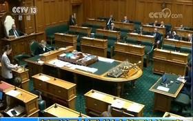 當地時間10日,新西蘭議會投票同意對槍枝管理法進行修正,禁止使用大部分的半自動槍枝。(圖源:CCTV視頻截圖)
