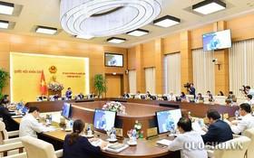 國會常務委員會第三十三次會議現場。(圖源:Quochoi.vn)