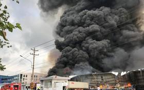 火警現場濃煙滾滾直衝天際。(圖源:春團)