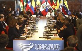 巴西外交部當地時間15日宣佈,巴西正式退出南美洲國家聯盟。圖為南美洲國家聯盟召開的一項會議。(圖源:互聯網)