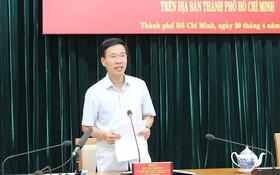 中央宣教部長武文賞在會議上發表講話。(圖源:芳陲)