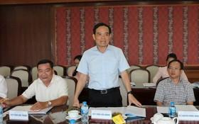市委常務副書記陳留光在會議上發表結論性意見。(圖源:市黨部新聞網)