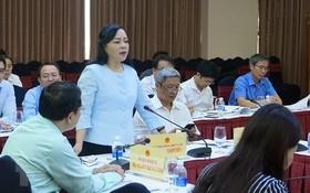 衛生部長阮氏金進在會議上發言。(圖源:越通社)