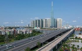 濱城-仙泉地鐵1號線高架段。
