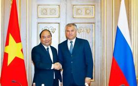 政府總理阮春福會見俄羅斯國家杜馬主席沃洛金。(圖源:越通社)