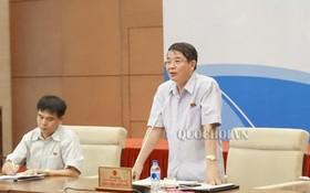 財政預算委員會主任阮德海在討論會上發言。(圖源:Quochoi.vn)