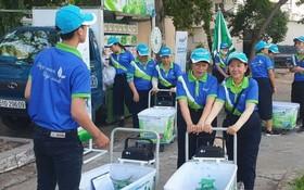 """第六郡婦聯會正式配合西貢紙業股份公司成立""""綠化隊""""。"""