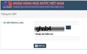 民眾可查閱信貸黑名單。(圖源:cic.org.vn截圖)