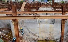 10萬億元治水項目所屬第一郡濱藝擋潮閘工程正在施工中。