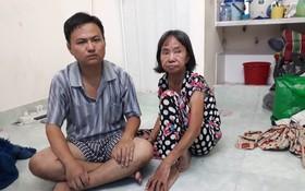 林少芳兩母子在其租住的房間。