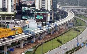 本市調整兩地鐵線項目。圖為本市濱城-仙泉地鐵1號線目前處於施工完善階段。(圖源:平明)