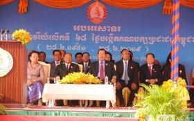 柬埔寨人民黨在鑽石島隆重舉行黨慶。 (圖源:柬中時報)