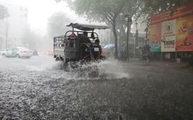 胡志明市因受氣候變化而經常遭到水淹。(圖源:州阮)