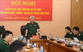 阮志詠副部長(中)主持會議並發表講話。(圖源:越通社)