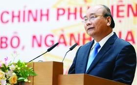 政府總理阮春福主持會議並發表講話。(圖源:VGP)