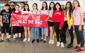 參加由中國暨南大學舉辦國際夏令營活動的該中心12名華人子弟。