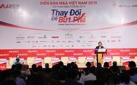 計劃與投資部副部長武大勝在2019年越南併購(M&A)論壇上致詞。(圖源:黎全)