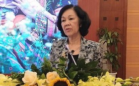 中央民運部長張氏梅在會上致詞。(圖源:VOV)